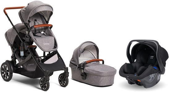 Beemoo Maxi 4 Twin inkl. Modukid Infant Babyautostol, Grey/Black