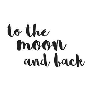 Stickstay Wallsticker To The Moon In Black