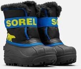 Sorel Childrens Snow Commander Vinterstøvler, Black/Super Blue