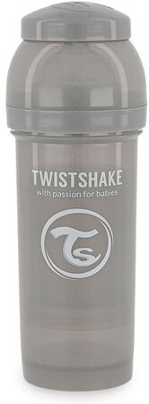 Twistshake Anti-Kolik Sutteflaske 260 ml, Pastel Grey