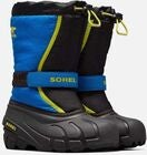 Sorel Childrens Flurry Vinterstøvler, Black/Super Blue