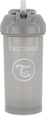 Twistshake Kop m. Sugerør 360 ml 6+ m, Pastel Grey