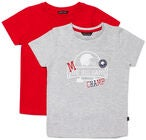Luca & Lola San Marino T-Shirt 2-pak, Grey/Red