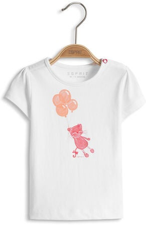 ESPRIT T-shirt Cat, White