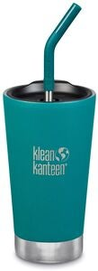 Klean Kanteen Insulated Tumbler m. Sugerørslåg 473ml, Emerald Bay