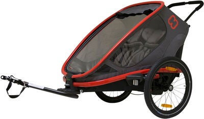 Hamax Outback Reclining Cykelanhænger 2019, Red/Charcoal