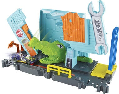 Hot Wheels City Gator Garage Attack Legesæt