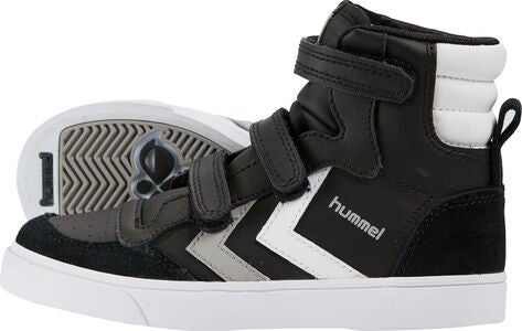 Hummel Stadil Jr Leather High Sneakers, Black/White/Grey
