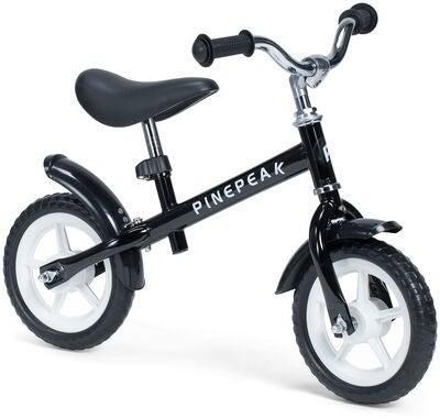 Pinepeak Komfort Løbecykel 10 tommer, Sort | Learner Bikes