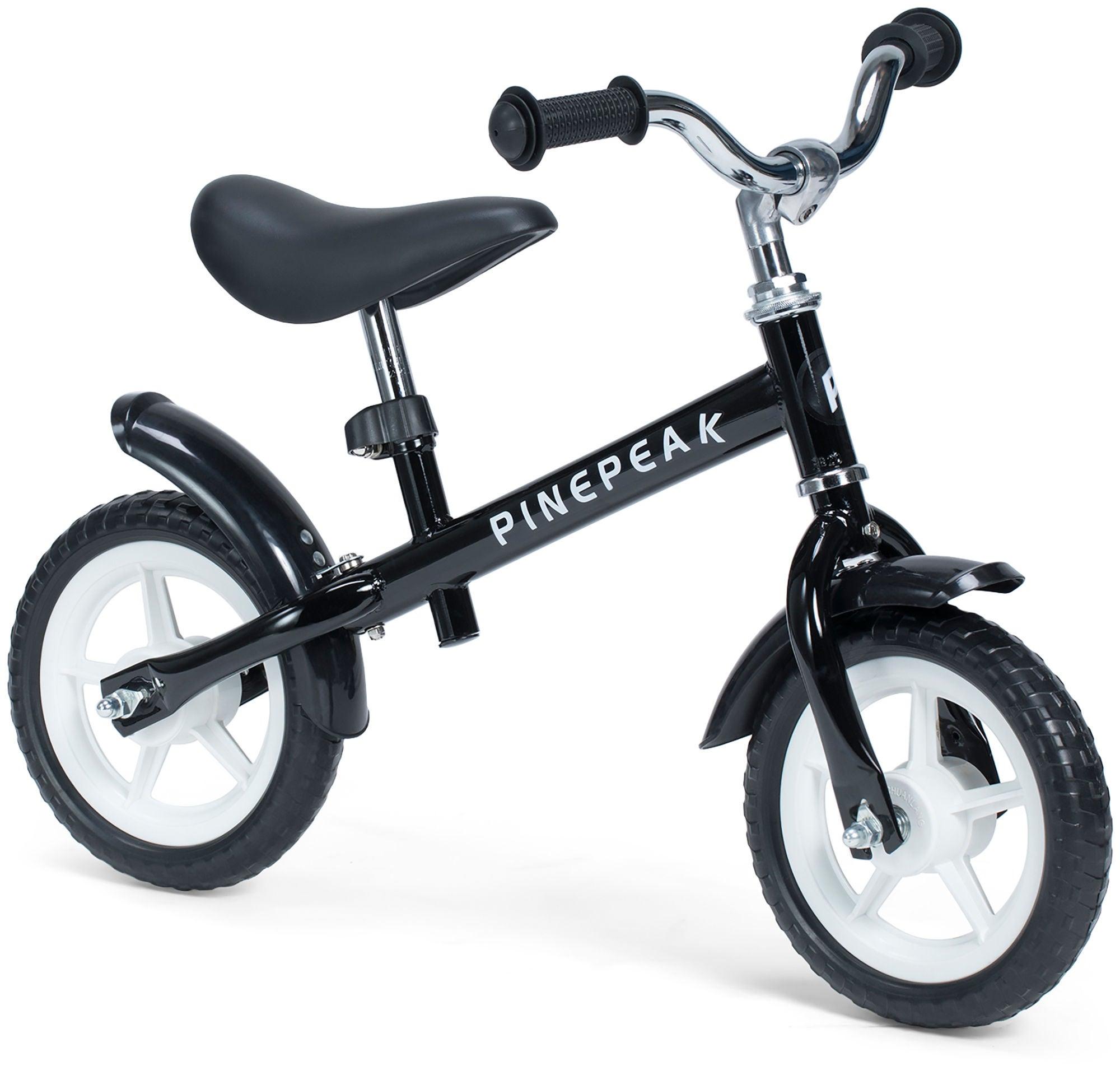 Pinepeak Komfort Løbecykel 10 tommer, Sort | Løbecykel