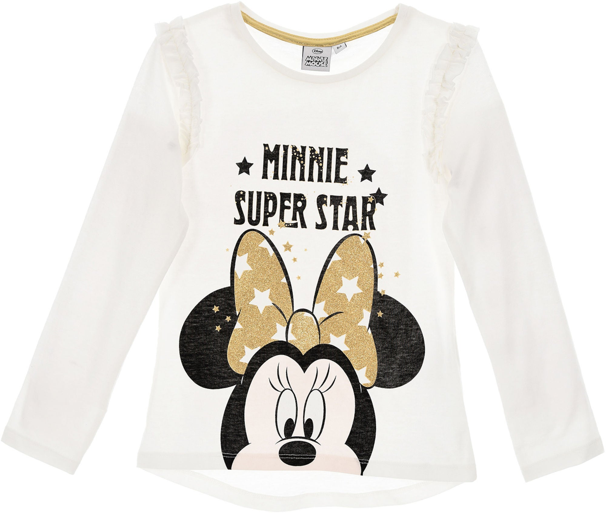 Køb Disney Minnie Mouse Langærmet T Shirt, Off White   Jollyroom