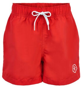 Color Kids Badeshorts, High risk red