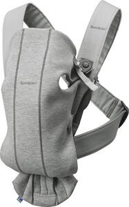 BabyBjörn Mini Bæresele 3D Jersey, Light grey