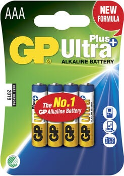 GP Batterier Ultra Plus Alkaline AAA 4-pak