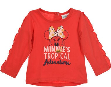 Disney Minnie Mouse Langærmet T-Shirt, Rød