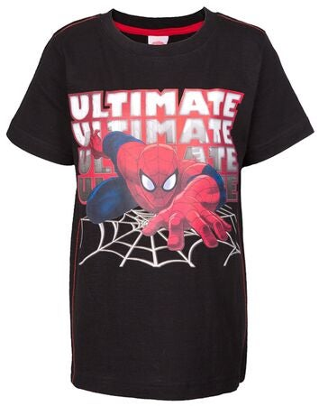 Disney T-shirt Spiderman, Sort