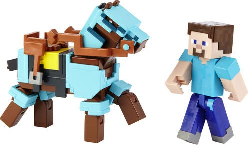 Minecraft Comic Maker Figur Steve & Hest