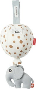 Done By Deer Spilledåse Ballon Dots, White/Gold