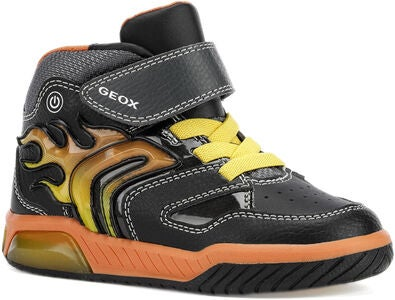 Geox Inek Blinkende Sneakers, Black/Orange