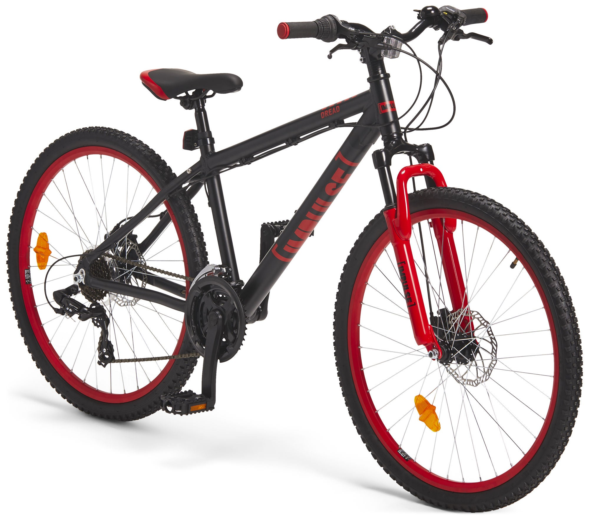 Impulse Premium Dread Mountainbike 26 Tommer, Black/Red