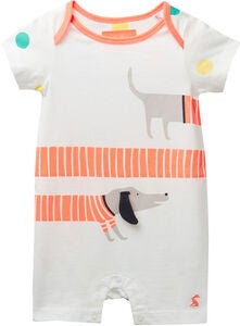 Tom Joule Applique Heldragt, White Sausage Dogs