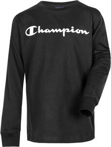 Champion Kids Langærmet T-Shirt, Black Beauty
