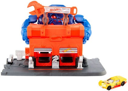 Hot Wheels City Legesæt Gorilla Rage Garage Attack
