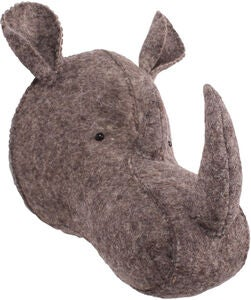 KidsDepot Næsehornshoved Rhino, Dark Brown
