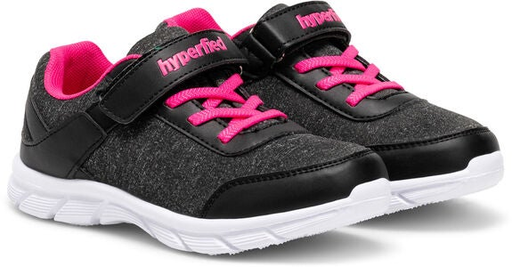 Hyperfied Racer Sneakers, Black/Pink