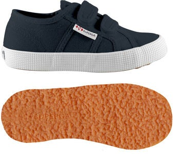 Superga 2750 Cotbumpstrapj Sneakers, Navy/White
