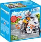 Playmobil 70051 Ambulancemotorcykel