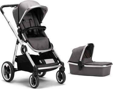 Beemoo Twin Travel+ 2019 Duovogn, Dark Grey