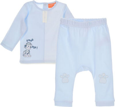Paw Patrol T-Shirt & Bukser, Light Blue