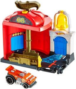 Hot Wheels City Downtown Legesæt Fire Station Spinout
