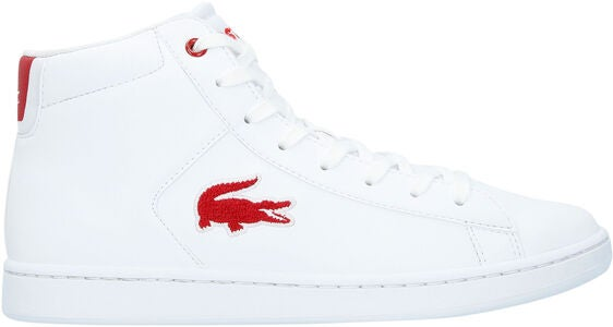 Lacoste Carnaby Evo Mid 3181 Sneakers, White/Red