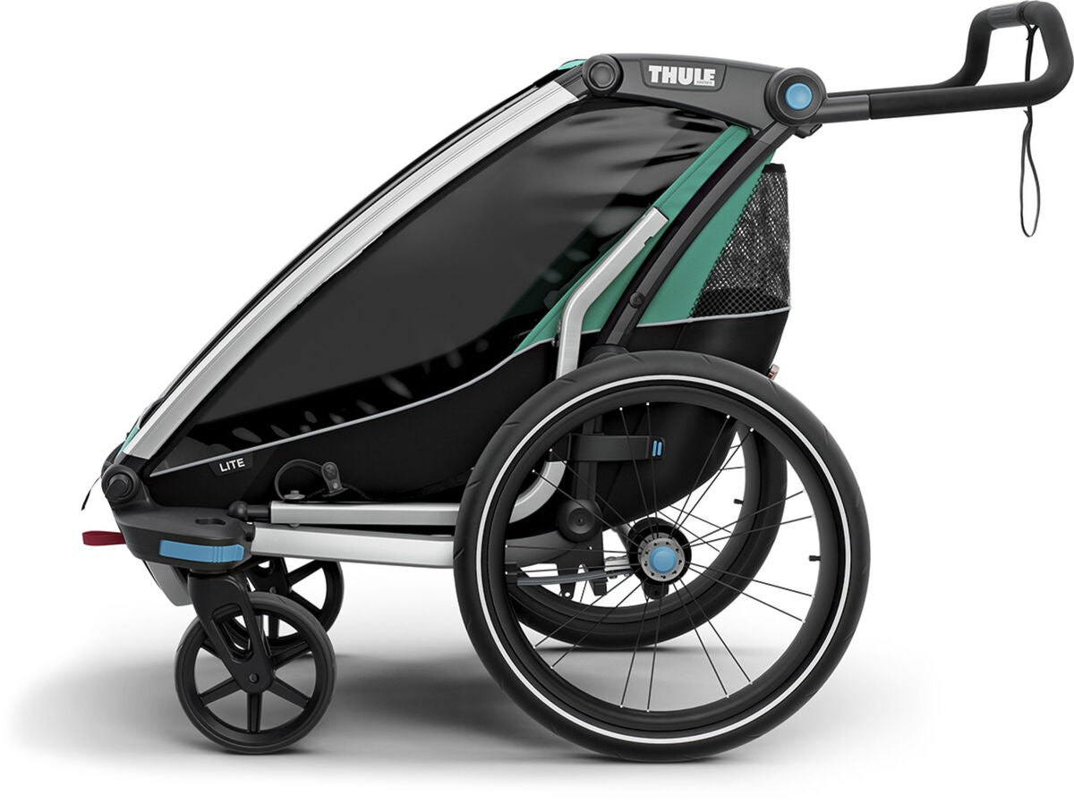 k b thule chariot lite 1 cykelvogn bluegrass jollyroom. Black Bedroom Furniture Sets. Home Design Ideas