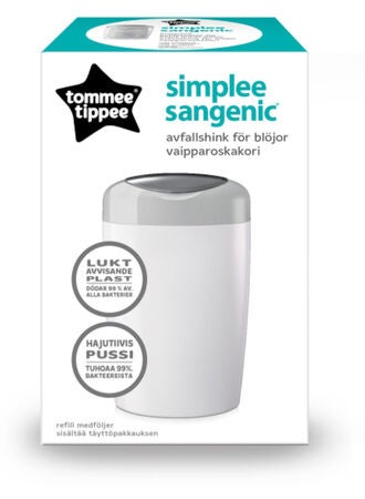 Tommee Tippee Sangenic Simple Blespand, Grå