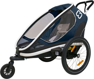 Hamax Outback One Reclining Cykelanhænger 2019, Navy/White