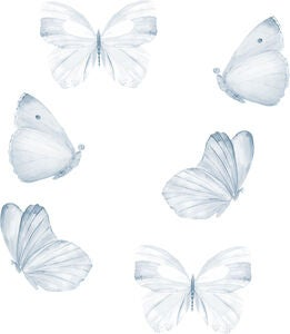 That's Mine Wallsticker Butterfly 6-pak, Blue