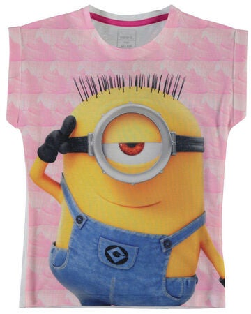 Name it Kids T-shirt Minions, Orchid Smoke