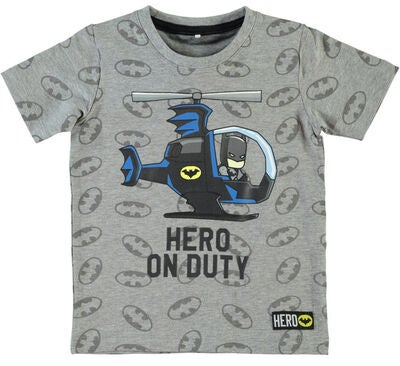 Name it Mini Batman T-shirt, Grey Melange