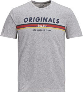 Jack & Jones Tuco Crewneck T-Shirt, Light Grey Melange