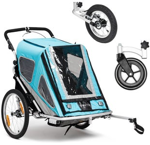 North 13.5 Speeder 2 Cykelanhænger Inkl. Stroller Wheel & Jogginghjul, Blue