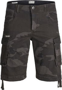 Jack & Jones Chop Cargo Shorts, Charcoal Gray