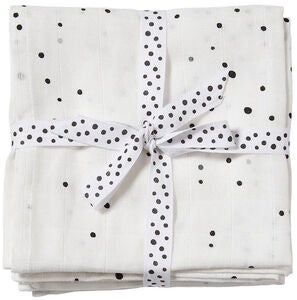 Done By Deer Stofble Dreamy Dots 2-pak, White