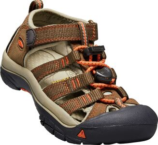 KEEN Newport H2 Little Kids Sandaler, Dark Earth/Spicy Orange