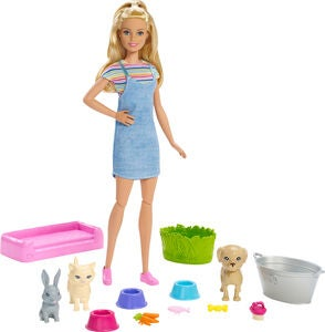 Barbie Play 'n' Wash Pets Dukke & Legesæt