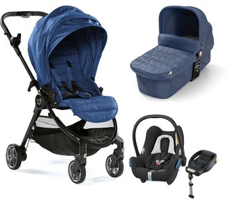 Baby Jogger City Tour Lux Duovogn + Maxi-Cosi Cabriofix Travel System, Iris