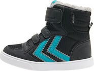 Hummel Stadil Poly Mid Jr Sneakers, Black/Lake Blue
