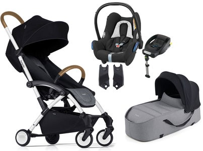 Bumprider Connect Duovogn + Maxi-Cosi Cabriofix Travel System, Hvid/Grå